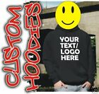 CUSTOM PRINTED HOODIES 6 colours personalised text cool