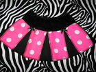 NEW Mini Girls  Black,Pink, Spot Cheerleader Skirt**