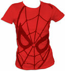 SPIDERMAN IM T-Shirt Tee NEW Marvel FACE Red (JUNIORS)