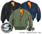 GENUINE ALPHA INDUSTRIES MA1 FLYING JACKET MA-1 USAF FLIGHT JACKET [01001]