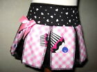 New Girls Black,Pink,White cupcake Cheerleader Skirt