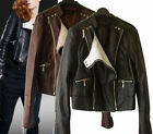 j7 Chic Synthetic leather Jacket Contrasting Lapel