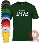 MADE IN 1972 birthday celebration funny party T-shirt