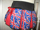 NEW  Baby Girls Black,Blue,White,Red Union Jack flag,Team GB cheerleader Skirt
