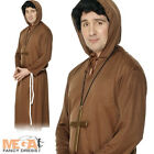 Monk Brown Robe Medieval Fancy Dress Friar Tuck Costume