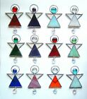 Angel Stained glass car hanging window gift tag window wall xmas tree decor