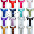 25PCS New Satin Chair Sashes Bows 15cm*275cm Wedding