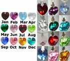Birthstone Gift 14mm Crystal Heart Pendant Necklace made with SWAROVSKI ELEMENTS