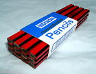 12 Dixon 19972 Black Red Soft, Medium or Hard Lead Carpenter Pencils