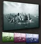 NEW YORK CITY MANHATTAN VIEW CANVAS PRINT MANY COLOURS & SIZES TO CHOOSE FROM