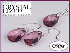 Geniune Swarovski crystal sterling silver (925) earrings & necklace & GIFT 6106
