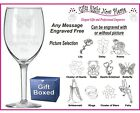 Engraved Wine Glass Nanny - Granny - Mother's Day Gift/ Present Mothers Day