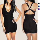 Sexy Sleeveless Cross-over Night Party Clubwear Mini Dress co9752 Size S M L