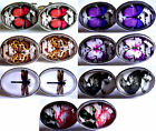 Vintage Retro Style Nature Theme Gift Tempered Glass Cabochon Cufflinks
