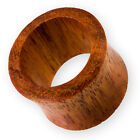4-30mm Holz Flesh Tunnel ohr piercing organic wood ear plug tube earlets horn V8