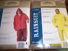 NIP Northwest Territory 2 Piece Deluxe Rainsuit -S/M Or L/XL- -Yellow Or Red-Other Fishing Clothing & Accs - 27415