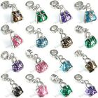 Purse Handbag Silver Dangle European Spacer Charm Bead For Bracelet Necklace