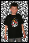 015B Kindershirt TShirt Gambler Devil Dice Flammen