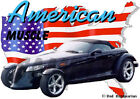 1997 Black Plymouth Prowler Custom Hot Rod USA T-Shirt 97, Muscle Car Tee's