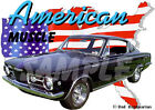 1965 Black Plymouth BarraCuda Custom Hot Rod USA T-Shirt 65, Muscle Car Tee's