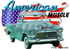 1957 Green GMC Pickup Truck Custom Hot Rod USA T-Shirt 57, Muscle Car Tee's