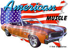 1972 Orange Chevy Chevelle SS Convertible Hot Rod USA T-Shirt 72, Muscle Car T