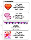 30 Heart / Hearts Personalized Address Labels