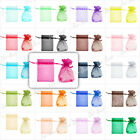 20pcs 70x90mm Drawable organza wedding gift bags jewellery pouches 20 colours