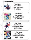 30 Super Grover Personalized Address Labels