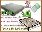 Kit Materasso in Lattice 100% + Rete + Cuscino in Memory Foam e Aloe Vera