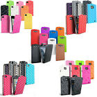 NEW LEATHER FLIP CASE COVER FITS VARIOUS MOBILE PHONES FREE SCREEN PROTECTOR
