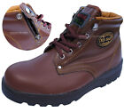 Mens K2ASF Safety Work Boots Steel Toe Cap Zipper Size US5~US12 (Made in Korea)