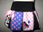 Girls Black,black,pink,skulls,cupcake,sweets,spots goth,punk Cheerleader Skirt