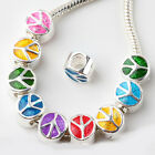 20pc Peace European Charm Bead Fit Bracelet AB443