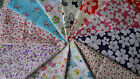 Poly Cotton Fat Quarters Floral Print Fabric, Material