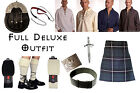 8 Yard Scottish Kilt Package, Complete Deluxe Casual Outfit, Douglas Tartan