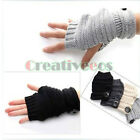 Man's Women's Fashion Hot Hem Knit buckle Fingerless Winter Warmer Unisex Gloves