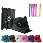Diamond 360 Degree Rotating Stand Case Cover Stylus Pen for New Apple iPad 3 2