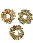 25 Feet Gold Christmas Wire Garland decoration leaves snowflakes stars