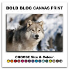 Wolf Wildlife ANIMALS  Canvas Art Print Box Framed Picture Wall Hanging BBD