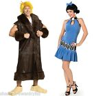 Couples Mens Ladies Fancy Dress Betty AND Barney The Flinstones Costumes Outfits