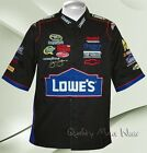 Jimmie Johnson #48  Lowe's Pit Crew Shirt Black Short Sleeve Retail $85