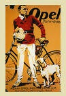 Fashion Man Dog Adam Opel Bicycle Bike Cycles Vintage Poster Repro FREE S/H