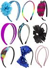 NWT Justice Girls Headband Hair Accessories NEW Jewel Feathers Sequin & MORE