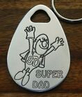 SUPER DAD DADDY GRAMPY GRANDAD BRO UNCLE CNC ENGRAVED KEY RING GIFT