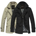 Men's Jacket Cloth Coat Slim Clothes Winter Slingle Breasted Trench Outwear