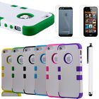 Screen Films+ Hybrid Robot Box Combo Bumper Cover Case For Apple iPhone 5 5G 6th