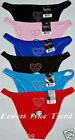 6 BIKINI PANTIES LP1208K1 LOT HEART FRONT NEW S/5 M/6 L/7 XL/8