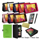 Premium Leather Smart Cover Case Stand for Asus Google Nexus 7 with Sleep Wake