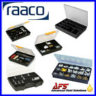 Raaco Assortment Fixed Compartment Polypropylene Sliding Lock Storage Box Case